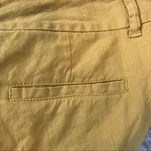 Nic & Zoe mustard coloured linen ankle pants 6